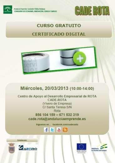 El cade ofrece un curso sobre el certificado digital for Oficina certificado digital